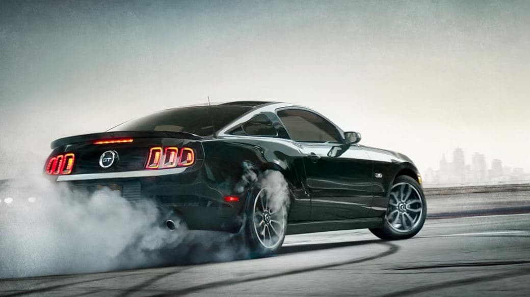 2014 Ford Mustang Black Rear View